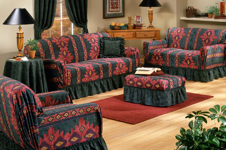 southwestern-themed living room slipcovers